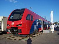Stadler FLIRT Železnice Srbije 413 004 Innotrans 2014.JPG