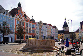 Braunau am Inn Place in Upper Austria, Austria