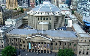 State Library of Victoria - Overview from high above Swanston Street