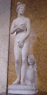 The Campo Iemini Venus, Roman marble statue of the Capitoline Venus or Venus Pudica type, (British Museum)
