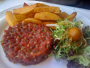 Steak tartare - Image: Steak tartar