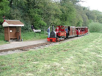 Perrygrove Railway - The Spirit of Adventure passing Rookwood Station