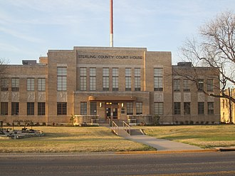 Sterling County, Texas - Image: Sterling County, TX, Courthouse IMG 1405
