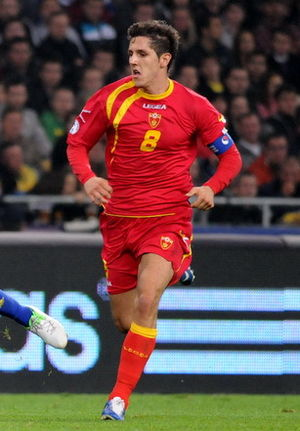 Stevan Jovetić - Jovetić playing for the Montenegro national football team in 2012.