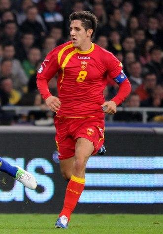 Stevan Jovetić - Jovetić playing for the Montenegro national football team in 2012.