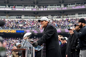 Steve Bisciotti - Steve Bisciotti speaks at the Baltimore Ravens' Super Bowl XLVII homecoming celebration.