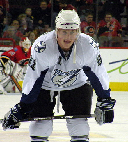 Steven Stamkos was drafted first overall by the Lightning in the 2008 NHL Entry Draft. Steven Stamkos.JPG