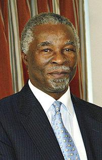 {{pt|O presidente da África do Sul Thabo Mbeki.