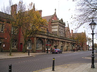 mainline railway station serving the city of Stoke-on-Trent in England