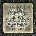 Stolperstein.Mitte.Hinter der Katholischen Kirche 3.Bernhard Lichtenberg.2315.jpg