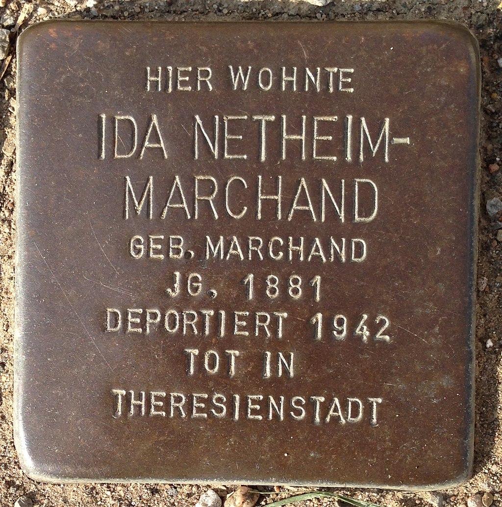 Stolperstein Höxter Ottbergen Brakeler Straße 8 Ida Netheim-Marchand