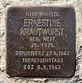 Stolperstein Hussitenstr 38 (Gesbr) Ernestine Krautwurst.jpg