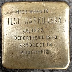 Photo of Ilse Barkowsky brass plaque