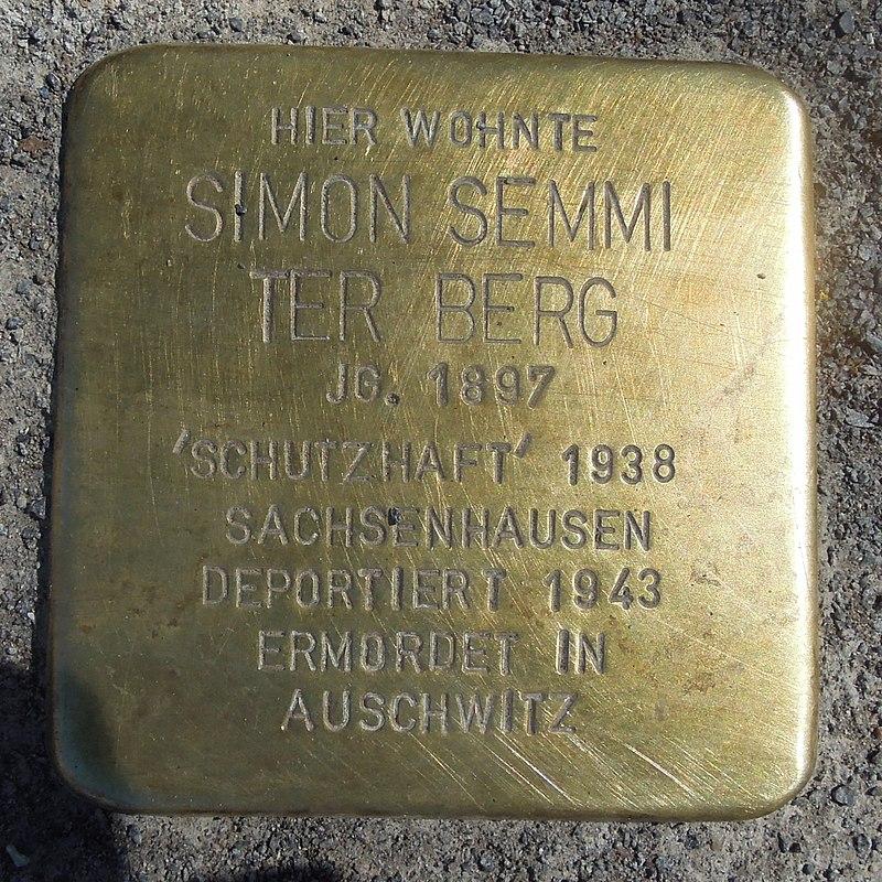 Stolperstein Olsberg Bigge Bruchstraße 1 Simon Semmi ter Berg.JPG