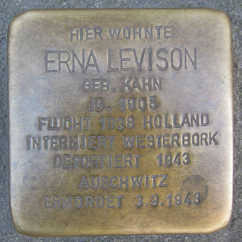 Stolperstein Ratingen Bechemer Straße 2 Erna Levison