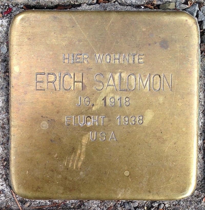 Stolperstein Waldbröl Hochstraße 30 Erich Salomon
