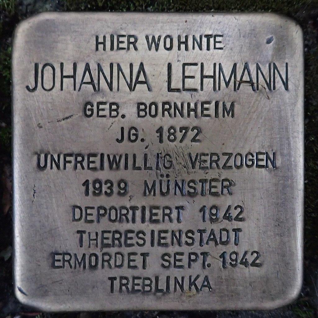 Stolperstein für Johanna Lehmann
