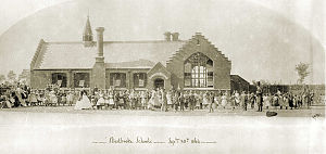 Stradbroke - The opening of Stradbroke Primary School on 28 October 1864.
