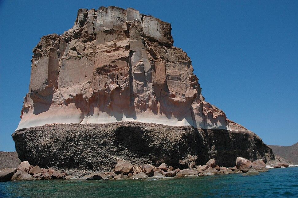 Stratified Island near La Paz, Baja California Sur, Mexico