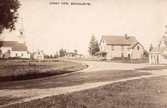 Brooklin, Maine - Image: Street View, Brooklin, ME