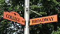 Street signs with Headless Horseman logo in Sleepy Hollow NY.jpg