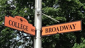 Headless Horseman (Legend of Sleepy Hollow) - Street signs in Sleepy Hollow, New York feature a Headless Horseman logo