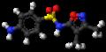 Sulfafurazole molecule ball.png