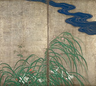 Sakai Hōitsu - Image: Summer and Autumn Flower Plants (right)