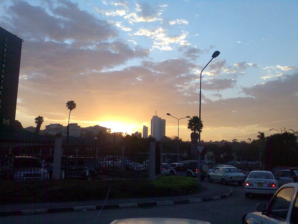 Sunset in Nairobi