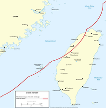 A map depicting Taiwan and a part of China showing that the Surface-To-Air Missiles coverage of China extends to most of the west coast of the island