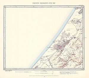 Jabalia - Image: Survey of Western Palestine 1880.19