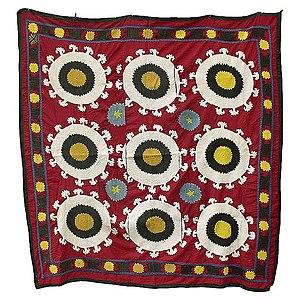 Suzani (textile) - Uzbek Suzani  wedding cloth