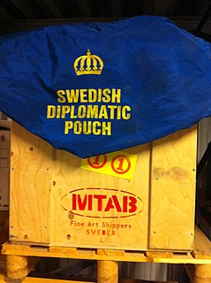 Diplomatic bag transported package of a diplomatic mission, exempt from inspection or seizure