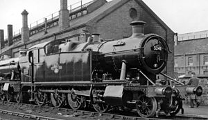 GWR 5205 Class - 5205 Class locomotive at Swindon Works fresh from repair