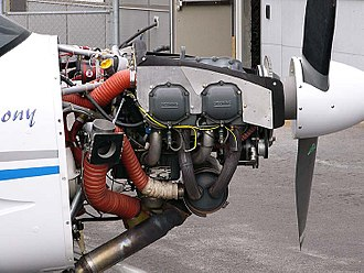 Lycoming O-320 - A Lycoming O-320-D2A installed in a Symphony SA-160