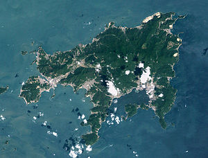 Shōdoshima - Image: Syodoshima landsat