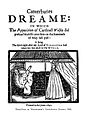 "T. Wentworth ""Canterburies dreame"", title page Wellcome L0000589.jpg"