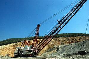 Dragline excavator - Page 725 dragline at Turkish Coal Association - Yenikoy Open Pit Coal Mine, Milas