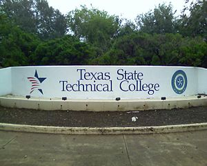 Harlingen, Texas - The entrance to the Harlingen branch of the Texas State Technical College in 2008.