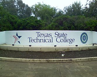 Harlingen, Texas - The entrance to the Harlingen branch of the Texas State Technical College in 2008