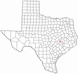 Location of Snook, Texas