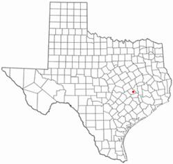 Snook Texas Map
