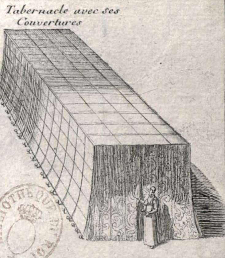 Tabernaclè avec Ses Couvertures. Carte du voïage des Israëlites. xviie siècle