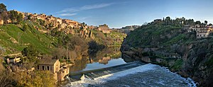 Tagus - View of Tagus River in Toledo, Spain