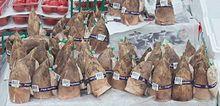 Germogli di bambù per uso alimentare.