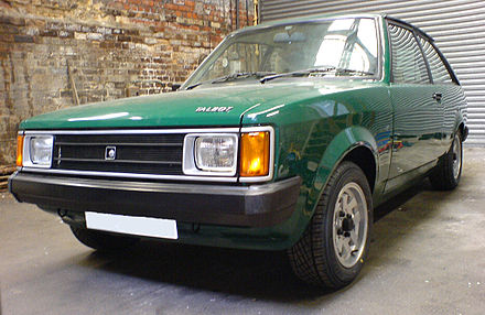 The Chrysler Sunbeam kept the company going in the later 1970s. Talbot sunbeam lotus.jpg