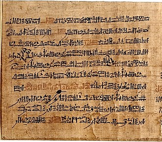 Tale of Two Brothers - Sheet from the Tale of Two Brothers, Papyrus D'Orbiney, British Museum