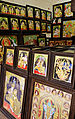 Tanjore paintings being sold at Dilli Haat.JPG