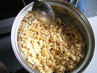 Pörkölt - Nokedli used as side dish