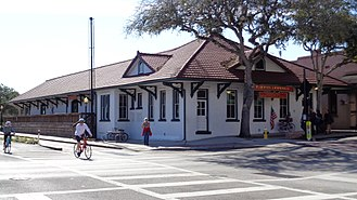 Tarpon Springs, Florida - Tarpon Springs Depot, built in 1909, is one of the oldest surviving train station buildings in the Tampa Bay Area.